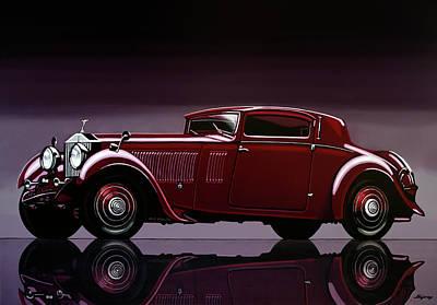 Rolls Royce Phantom 1933 Painting Original