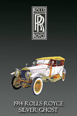 Painting - Rolls Royce Silver Ghost by Jack Pumphrey