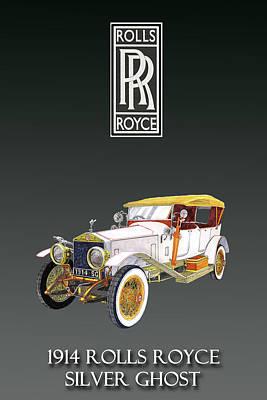 Painting - Rolls Royce Silver Ghost by Jack Pumphrey