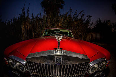 Photograph - Rolls-royce Silver Shadow At Night by Mark Perelmuter