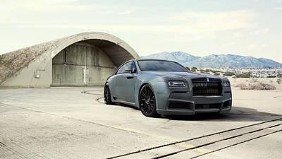 Overdose Digital Art - Rolls Royce Wraith Overdose By Spofec   by Anne Pool