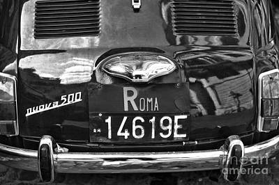 Photograph - Roma Fiat 500 by John Rizzuto