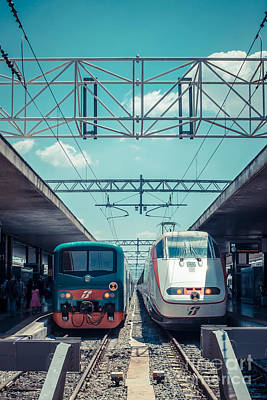 High Speed Photograph - Roma Termini Railway Station by Edward Fielding