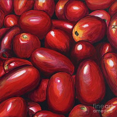 Roma Tomatoes Art Print by Patty Vicknair