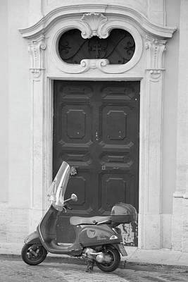 Photograph - Roma Vespa And Door  by John McGraw
