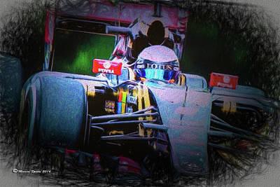 Victory Digital Art - Romain Grosjean 2015 by Marvin Spates