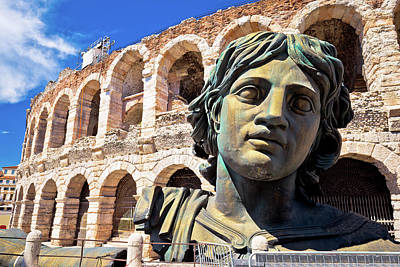 Photograph - Roman Amphitheatre Arena Di Verona View by Brch Photography