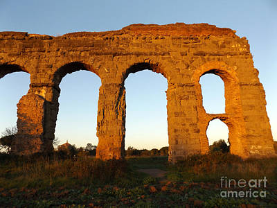 Photograph - Roman Aqueduct by Alessandro Nesci