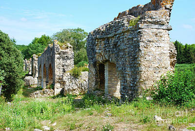 Ruins Photograph - Roman Aqueduct Ancient Ruins - Barbegal France by Just Eclectic
