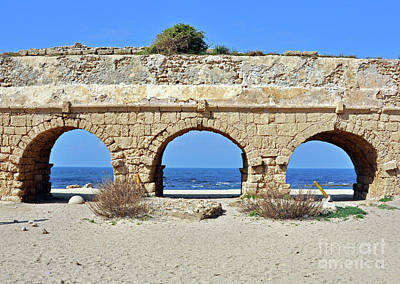Photograph - Roman Aqueduct In Caesarea by Lydia Holly