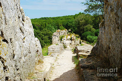 Ruins Photograph - Roman Aqueduct Watermill Complex - Barbegal by Just Eclectic