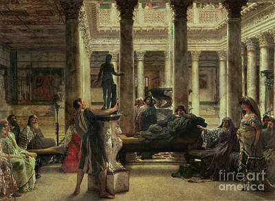 Displays Painting - Roman Art Lover by Sir Lawrence Alma-Tadema