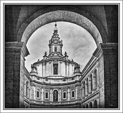 Photograph - Roman Baroque Architecture B. W. by Hanny Heim