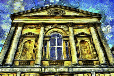 Photograph - Roman Bath Van Gogh by David Pyatt