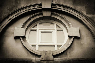 Photograph - Roman Bath Window In Sepia by Tony Grider