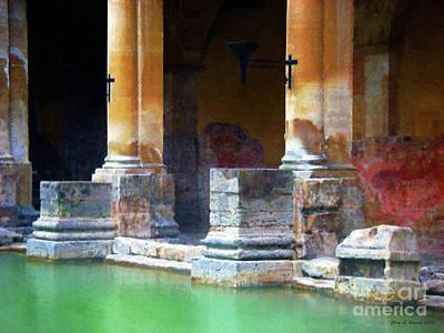Roman Baths Mixed Media - Roman Baths   Bath England by Jerry L Barrett