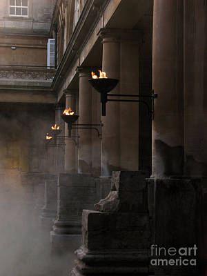 Roman Baths Print by Amanda Barcon