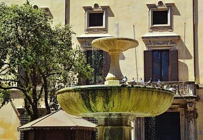 Photograph - Roman Bird Bath by JAMART Photography