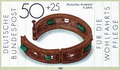 Copper Bracelet Painting - Roman Bracelet by Lanjee Chee