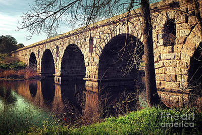 Roman Bridge Art Print by Carlos Caetano