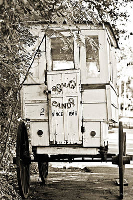 Roman Candy Cart Photograph - Roman Candy Cart - Sepia by Scott Pellegrin
