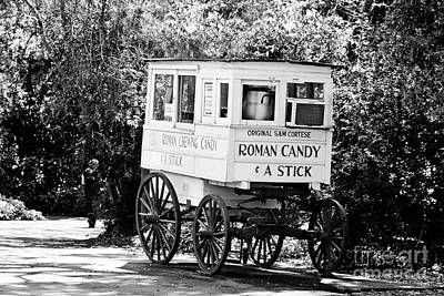 Roman Candy Cart Photograph - Roman Candy No 2 - Bw by Scott Pellegrin