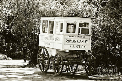 Roman Candy Cart Photograph - Roman Candy No 2 - Sepia by Scott Pellegrin