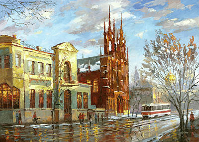 Painting - Roman Catholic Church by Dmitry Spiros