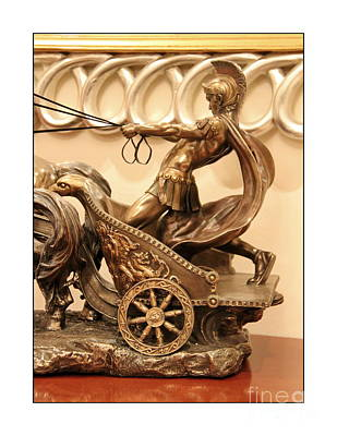Relief Copper Art Relief - Roman Chariot by Hussein Kefel