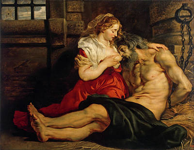Parable Painting - Roman Charity by Peter Paul Rubens
