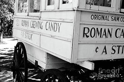 Roman Candy Cart Photograph - Roman Chewing Candy - Bw by Scott Pellegrin