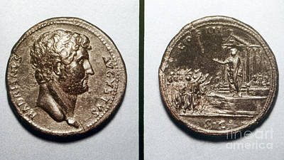 Photograph - Roman Coin, Hadrian by Granger