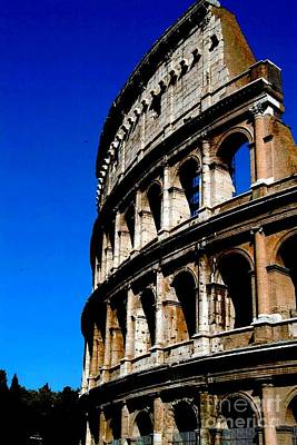 Roman Coliseum By Day Art Print by Alberta Brown Buller