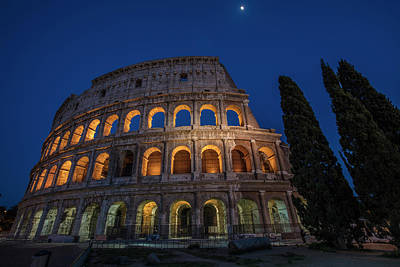 Photograph - Roman Coliseum In The Evening  by John McGraw