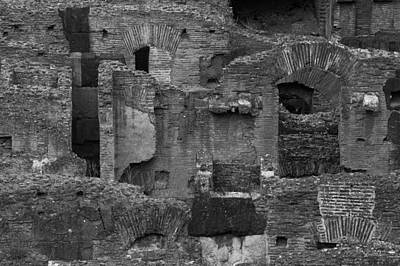 Photograph - Roman Colosseum Bw by Silvia Bruno