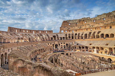 Photograph - Roman Colosseum Rome Italy by Rene Triay Photography