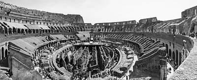 Photograph - Roman Colosseum Inside Pano  by John McGraw