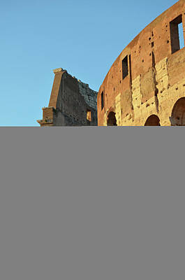 Photograph - Roman Colosseum Interior Cross Section At Sunset by Shawn O'Brien