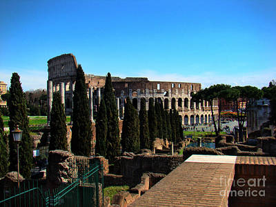 Roman Colosseum V Print by Al Bourassa