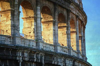 Rome Photograph - Roman Colosseum Painterly by Joan Carroll