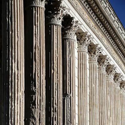 Photograph - Roman Columns 2 by Andrew Fare
