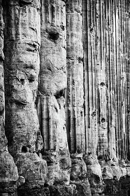 Photograph - Roman Columns, Temple To Hadrian by Jeremy Voisey