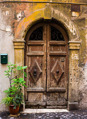 Photograph - Roman Door by Mike Evangelist