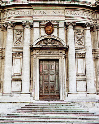 Photograph - Roman Doors - Door Photography - Rome, Italy by Melanie Alexandra Price