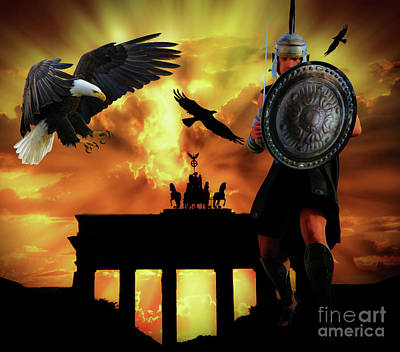 Soldiers Mixed Media - Roman Eagles by KaFra Art