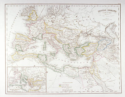Roman Empire At The Time Of Augustus Art Print by Fototeca Storica Nazionale
