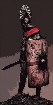 Painting - Roman Empire - Legionary by Andrea Mazzocchetti