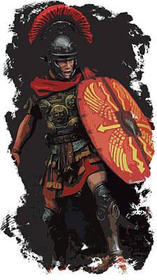 Painting - Roman Empire - Legionary Power by Andrea Mazzocchetti