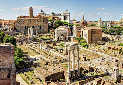 Photograph - Roman Forum And Capitoline Hill From Palatine by Weston Westmoreland