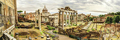 Photograph - Roman Forum And Tabularium by Weston Westmoreland